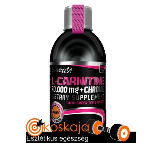 L-Carnitine 70.000 mg + Chrome - 500 ml | Zsírégető