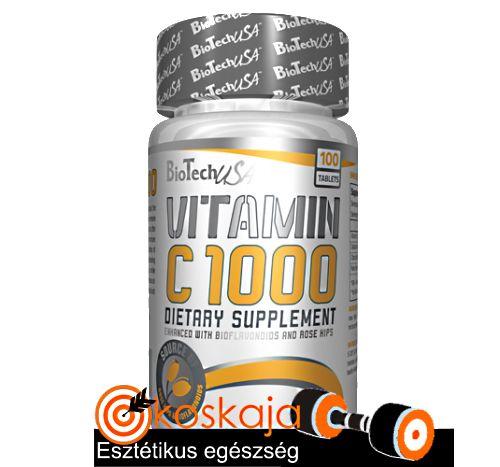 Vitamin C 1000 USA - 100 tabletta (C-vitamin) | Vitamin